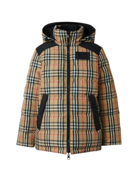 Vintage Check Reversible Puffer Jacket by Burberry