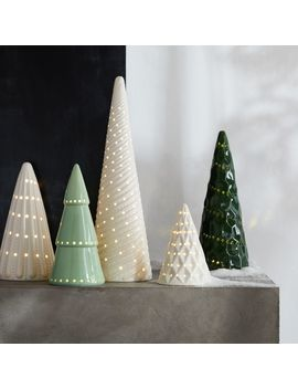 Led Ceramic Trees, Set Of 5 by Crate&Barrel