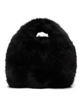 Black Faux Fur Bag by Comme Des GarÇons Girl