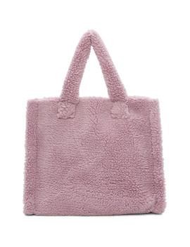 Purple Medium Lola Teddy Bag by Stand Studio