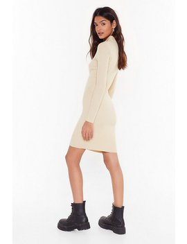 Zips Are Moving Ribbed Mini Dress by Nasty Gal