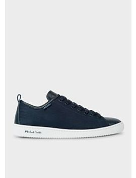 Men's Dark Navy Mesh And Leather 'miyata' Trainers by Paul Smith