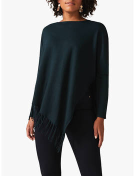 Phase Eight Athena Tassel Knit Jumper, Galactic Green by Phase Eight