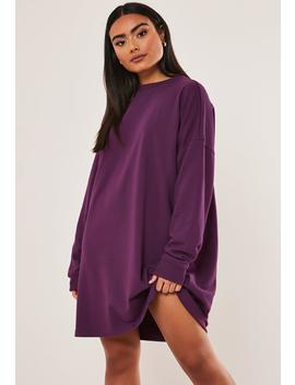 Plum Oversized Sweater Dress by Missguided