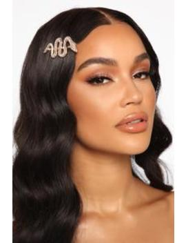 Snake 'em Down Hair Barrette   Clear by Fashion Nova