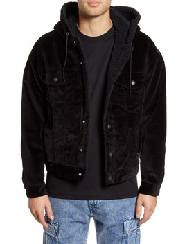 X Justin Timberlake Faux Fur Lined Corduroy Trucker Jacket by Levi's