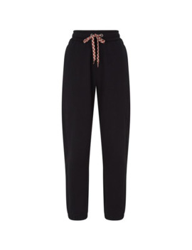 Cotton Embroidered Logo Sweatpants by Burberry