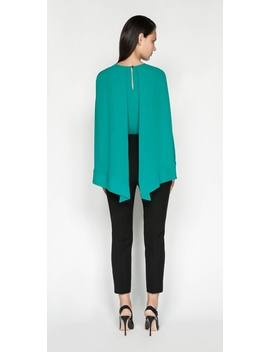 Georgette Cape Sleeve Top by Cue