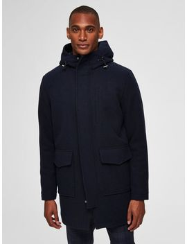 Wool Parka   Coat by Selected