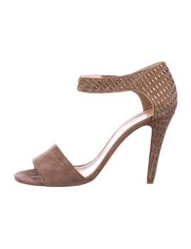 Suede Woven Sandals by Chloé