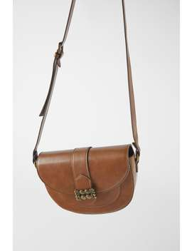 Oval Crossbody Bag With Metal Detail by Zara