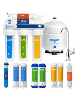 Under Sink Reverse Osmosis Water Filtration System   5 Stage Purifier W/ Faucet &Amp; Tank   4 Replacement Filters 50 Gpd by Express Water