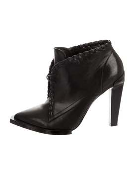 Leather Pointed Toe Booties by Alexander Wang