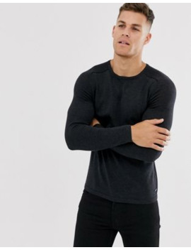 Boss Crew Neck Jumper In Black by Boss