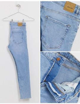 Bershka   Skinny Jeans In Lichtblauw by Bershka