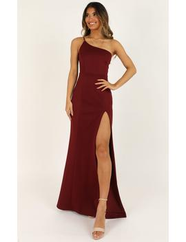 No Ones Fault Dress In Wine by Showpo Fashion
