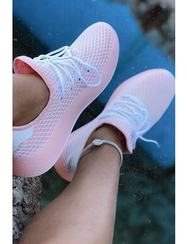 On Your Toes Sneakers   Blush by Fashion Nova
