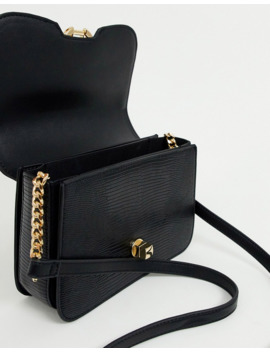 Topshop Crossbody Bag With Panther Detail In Black by Topshop