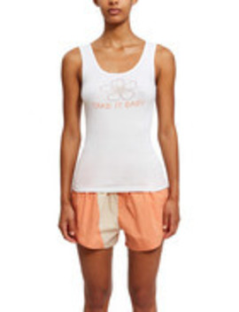 Take It Easy Flower Sparkle Tank by Vanna Youngstein