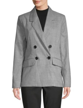 Double Breasted Houndstooth Blazer by Pure Navy