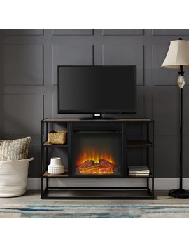 "Ibrahim Tv Stand For T Vs Up To 40"" With Electric Fireplace by George Oliver"