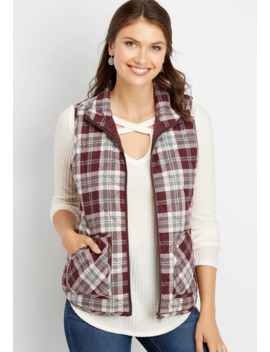 Plaid Puffer Vest by Maurices
