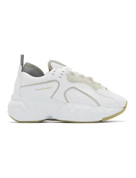 白色 Manhattan 运动鞋 by Acne Studios