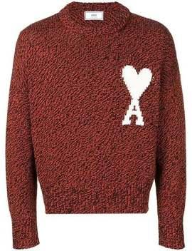 Ami Alexandre Mattiussi          Intarsia Knit Jumper Red by Ami Alexandre Mattiussi