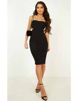 Live In The Moment Dress In Black by Showpo Fashion