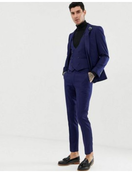 Gianni Feraud Slim Fit Perfect Navy Wool Blend Suit by Asos