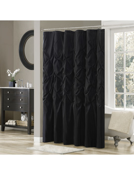 Home Essence Piedmont Tufted Faux Silk Shower Curtain by Madison Park