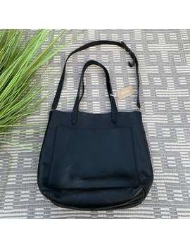 Madewell Black Leather Transport Tote by Madewell