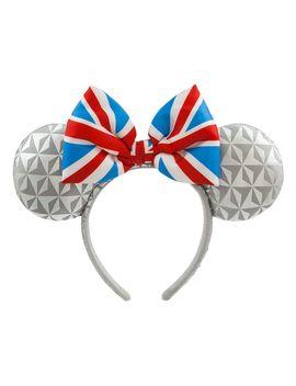 Epcot United Kingdom Minnie Mouse Ear Headband For Adults   Shop Disney by Disney