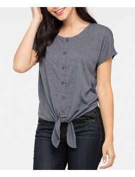 Extended Sleeve Tie Front Top by Ricki's
