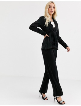 Unique21 Relazed Blazer With Tie Waist In Shimmer Co Ord by Unique 21