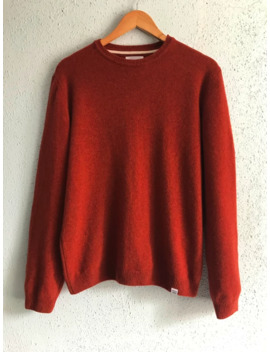 Norse Projects Red Sigfred Lambswool Sweater Jumper Size L by Norse Projects  ×