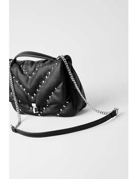 Quilted Crossbody Bag With Studs by Zara