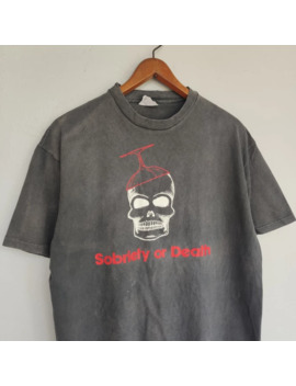 Vintage Sobriety Or Death T Shirt By Hanes/Punk by Vintage  ×  Hanes Made In Usa  ×  Seditionaries  ×