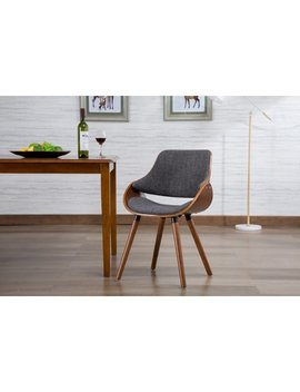 Porthos Home Wood And Fabric Mid Century Modern Dining Room Or Accent Chair With Beech Wood Dowel Legs by Porthos Home