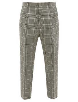 Check Tapered Wool Trousers by Ami