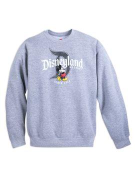 Mickey Mouse With Disneyland Fleece Sweatshirt For Adults   Shop Disney by Disney
