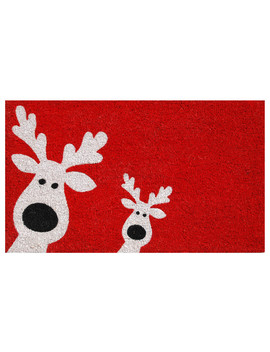 Peeking Reindeer Doormat by Home & More