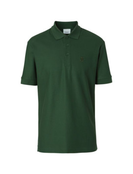 Cotton Piqué Polo Shirt by Burberry