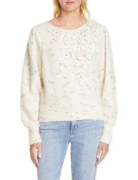 Claudette Floral Alpaca Blend Sweater by Loveshackfancy