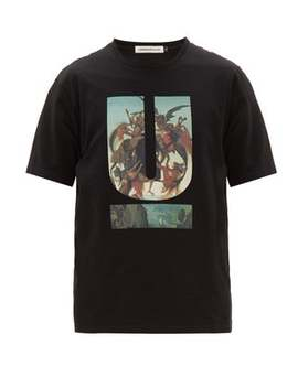 U Print Cotton T Shirt by Undercover