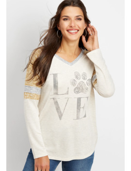 Love Paw Print Graphic Tee by Maurices