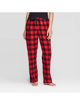 Women's Buffalo Plaid Perfectly Cozy Flannel Pajama Pants   Stars Above™ Red by Stars Above