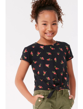 Girls Floral Print Top (Kids) by Forever 21