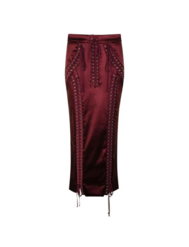 Satin Midi Pencil Skirt by Dolce And Gabbana