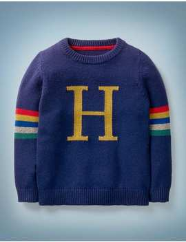 Harry Potter Knitted Jumper   College Blue by Boden